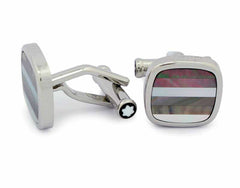 Montblanc Contemporary Striped Mother of Pearl Cuff links 109512