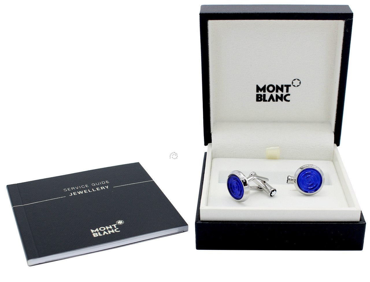 Montblanc Urban Spirit Steel & Blue Precious Resin Cuff Links 116655