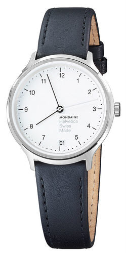Mondaine MH1.R1210.LB Helvetica No1 Regular Women Black Leather Watch