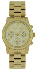 Michael Kors MK5055 Runway Chronograph 38 MM Women's Gold Steel Watch