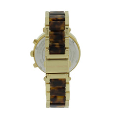 Michael Kors MK5688 Parker Chronograph Women Tortoise Gold Steel Watch