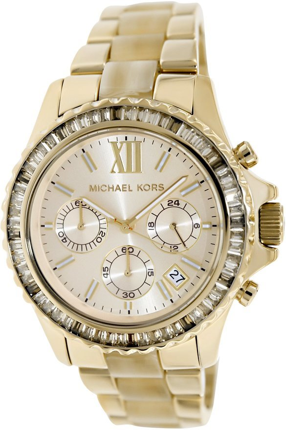 Michael Kors MK5874 Everest Women's Crystals Gold Steel Acetate Watch