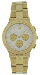 Michael Kors MK5933 Wyatt Chronograph White Dial Women Gold SS Watch