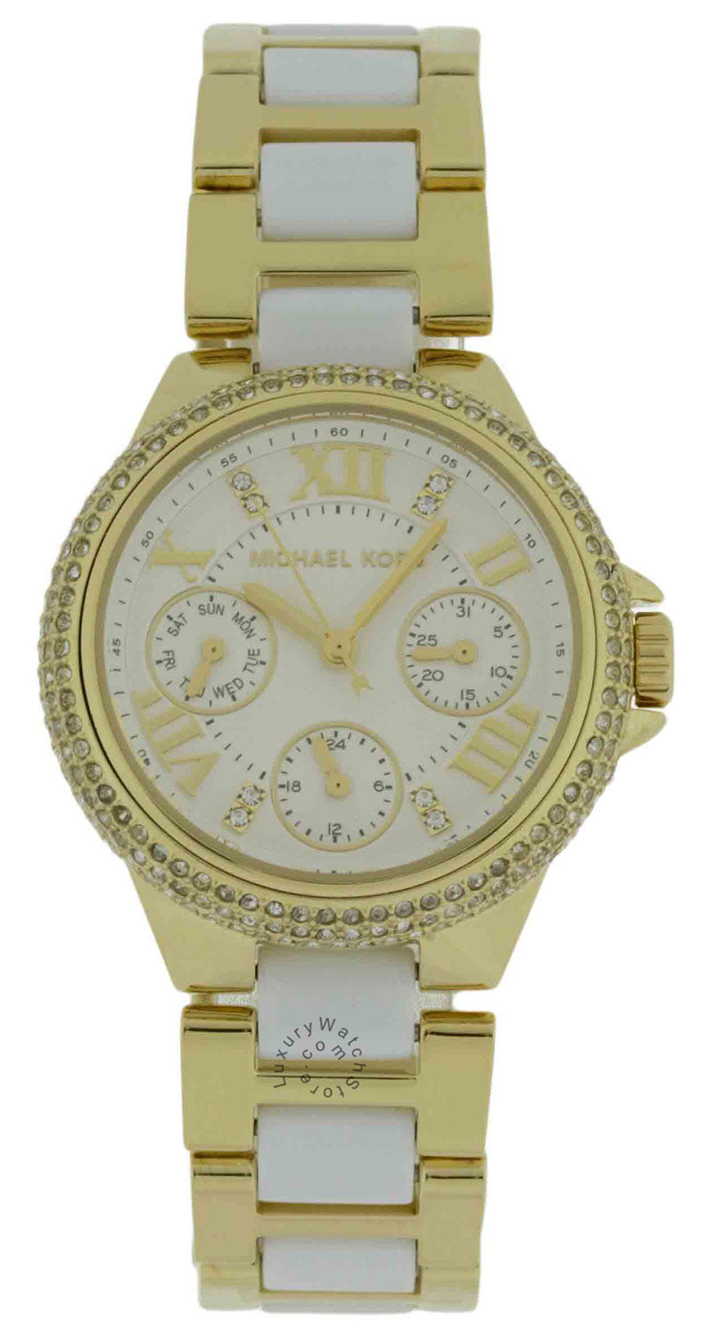 Michael Kors MK5945 Camille 3 Sub-Dial Chronograph Steel Women's Watch