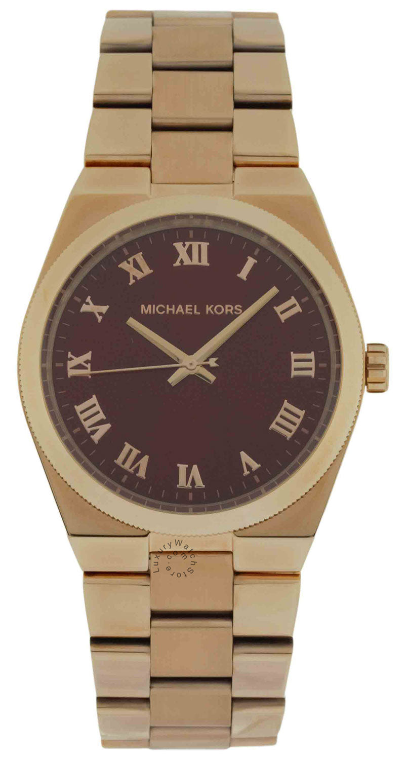 Michael Kors MK6090 Channing Red Dial Rose Gold Steel Women's Watch