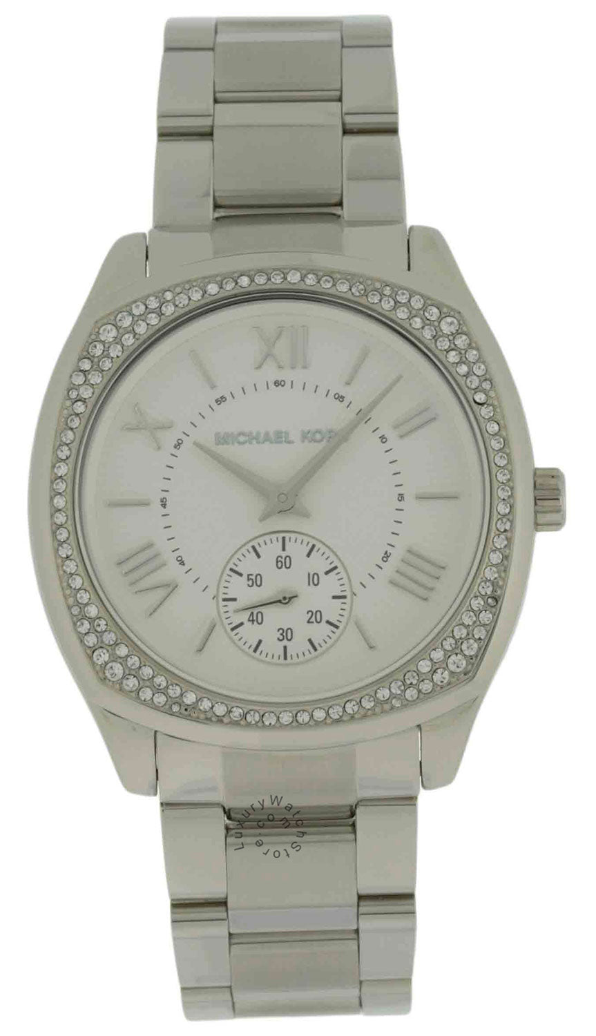 Michael Kors MK6133 Bryn Silver Dial Women Crystals Silver Steel Watch