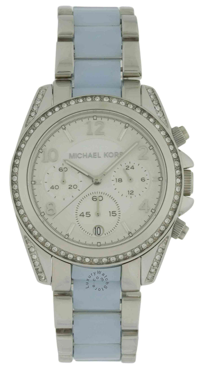 Michael Kors MK6137 Blair Glitz Chambray Blue Acetate Women's Watch
