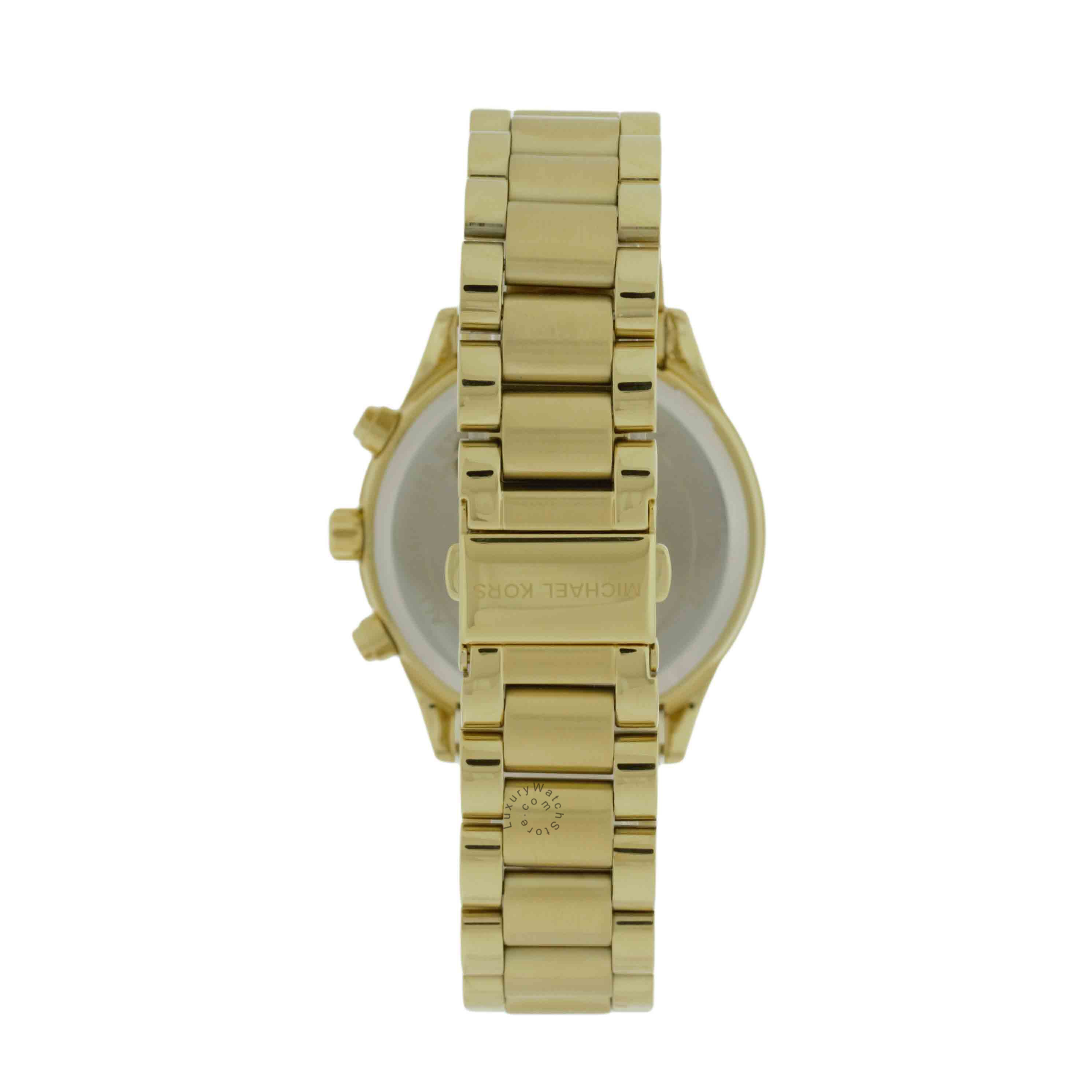 Michael Kors MK6187 Brinkley Chronograph Gold Dial Women's SS Watch