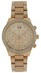 Michael Kors MK6204 Brinkley Chronograph RoseGold Dial Women SS Watch