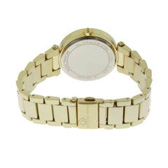 Michael Kors Mini Parker Floral Cutout Dial Women Gold SS Watch MK6469
