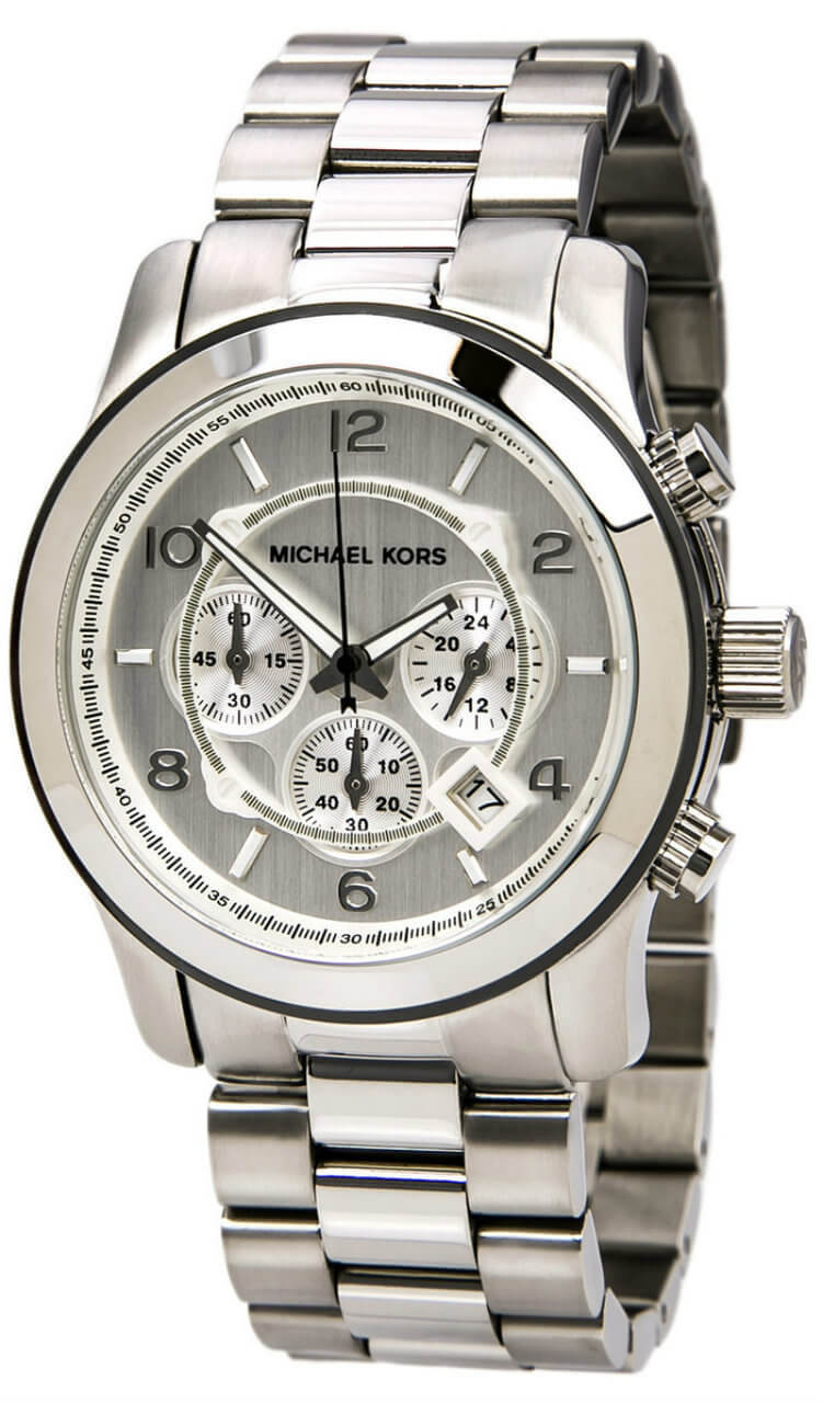 Michael Kors Silver Oversized Chronograph Men's Watch MK8086