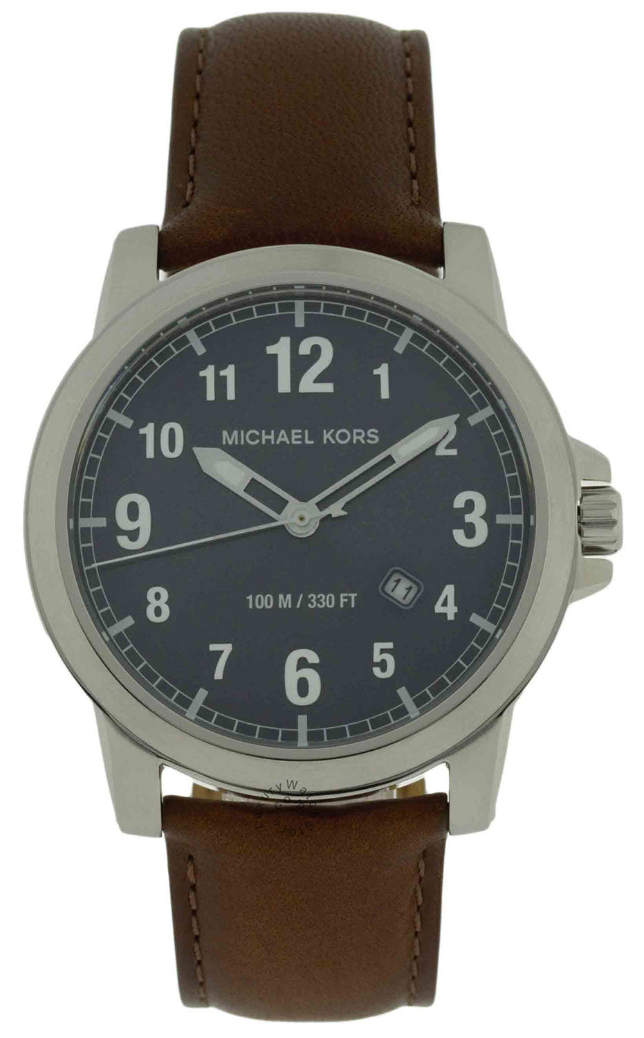 9d78cc35fb78 Michael Kors Paxton Blue Dial Brown Leather Strap Men Watch MK8501 –  LUXURYWATCHSTORE