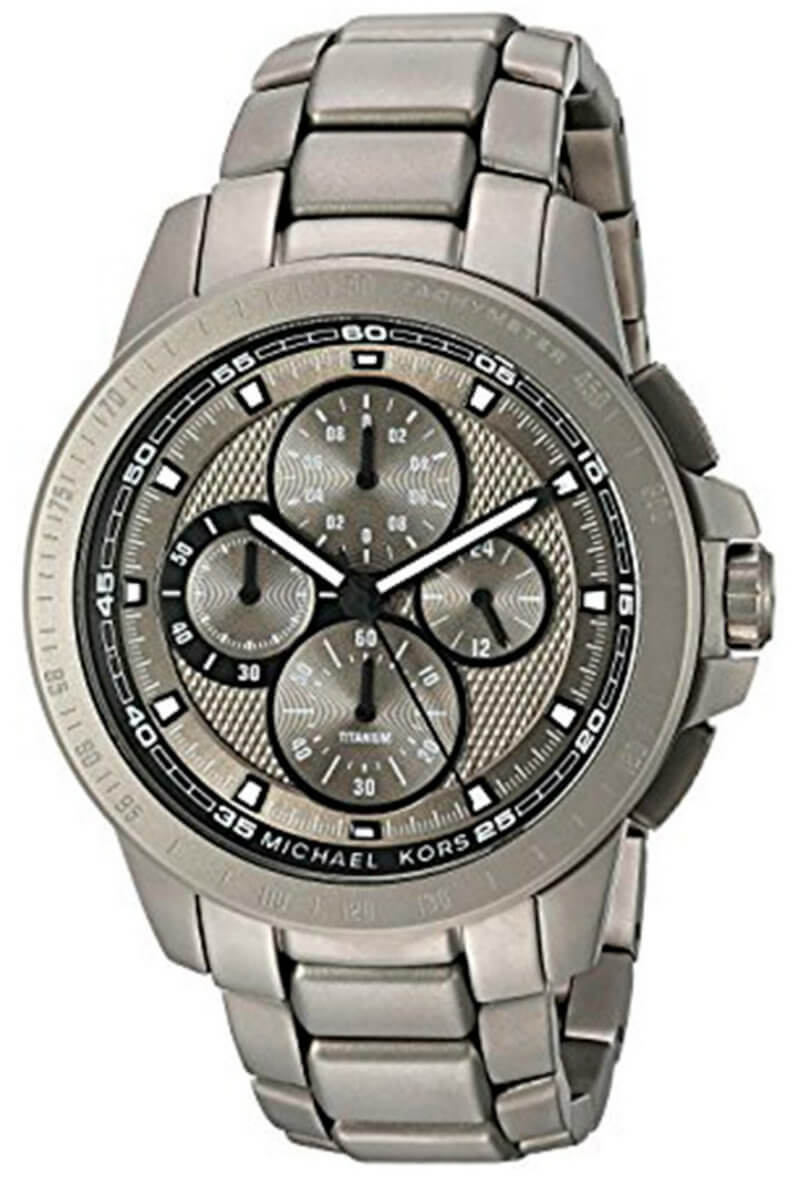 Michael Kors Ryker Chronograph Gunmetal Dial Titanium Men Watch MK8530