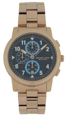 Michael Kors Paxton Chronograph Blue Dial Rosegold Men Watch MK8550