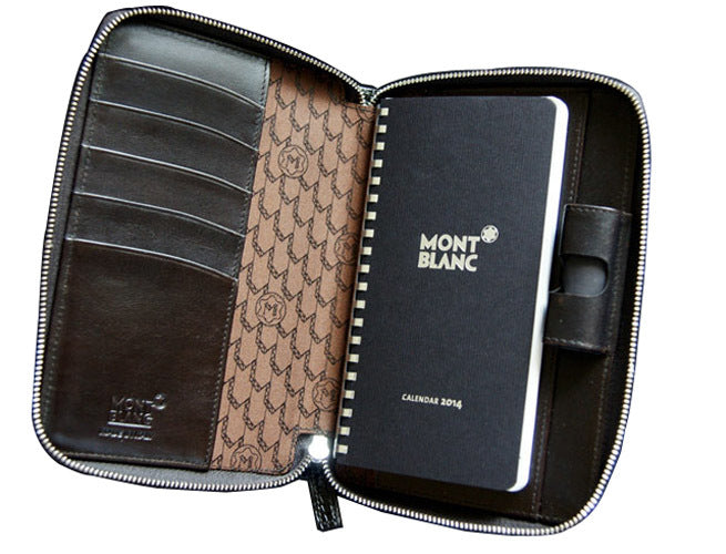 Montblanc Meisterstück Selection Agenda Small Zip Mocha Leather 109674