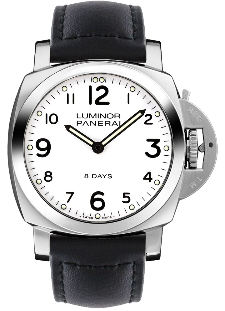 Panerai Luminor Base 8 Days Acciaio 44mm Leather Men's Watch PAM00561