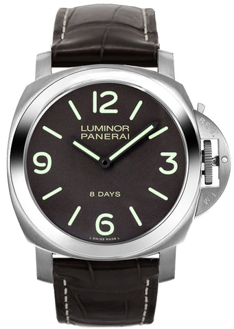 Panerai Luminor Base 8 Days Titanio 44mm Leather Men's Watch PAM00562