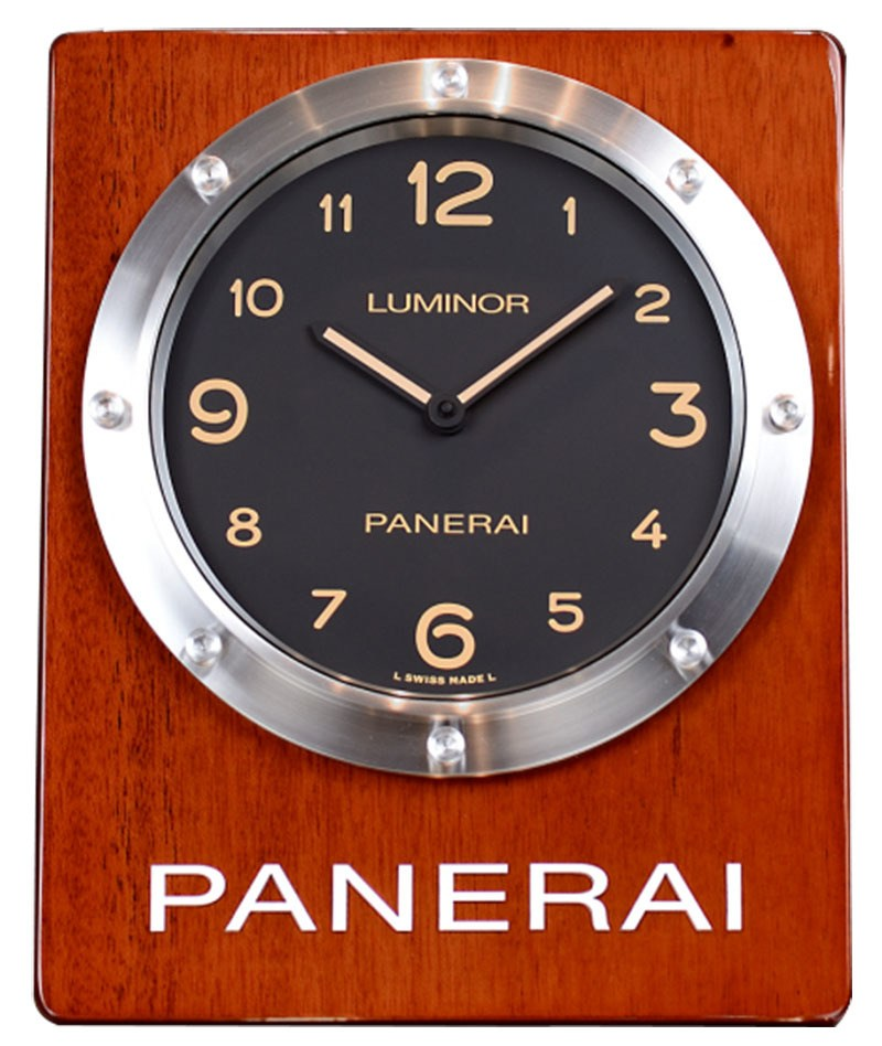 Panerai Officine Black Dial Luminous Marker Quartz Wall Clock PAM00642