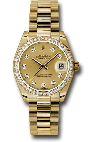 Rolex Datejust 31 Champagne DIA Dial DIA Bezel YG Pres Watch 178288