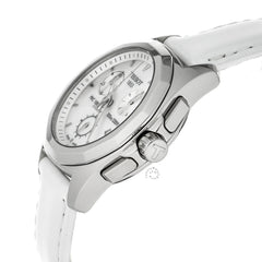 Tissot PRC 100 Chrono Pearl Dial Leather Women Watch T0082171611100