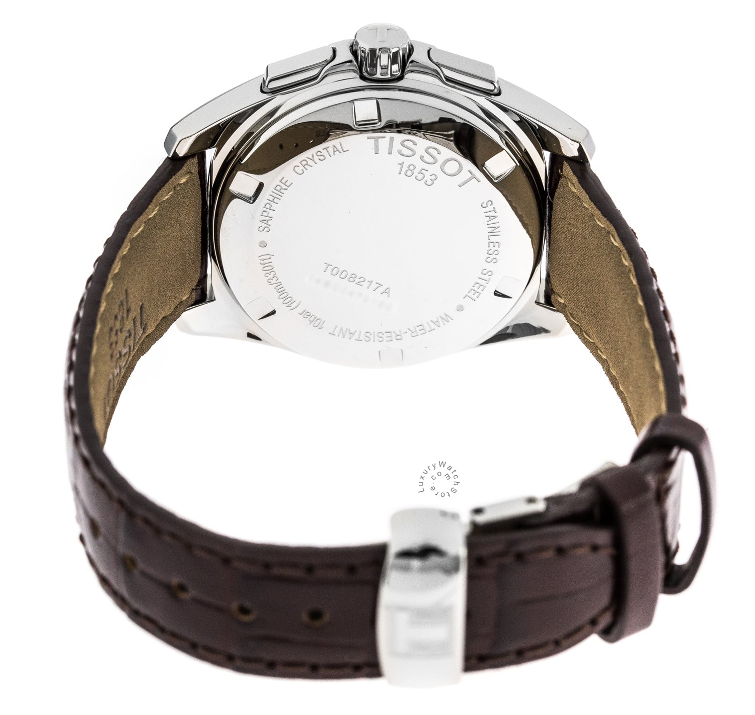 Tissot PRC 100 Chronograph BRN Dial Leather Women Watch T0082171629100