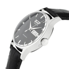 Tissot Visodate Automatic Black Leather Men's Watch T0194301605101