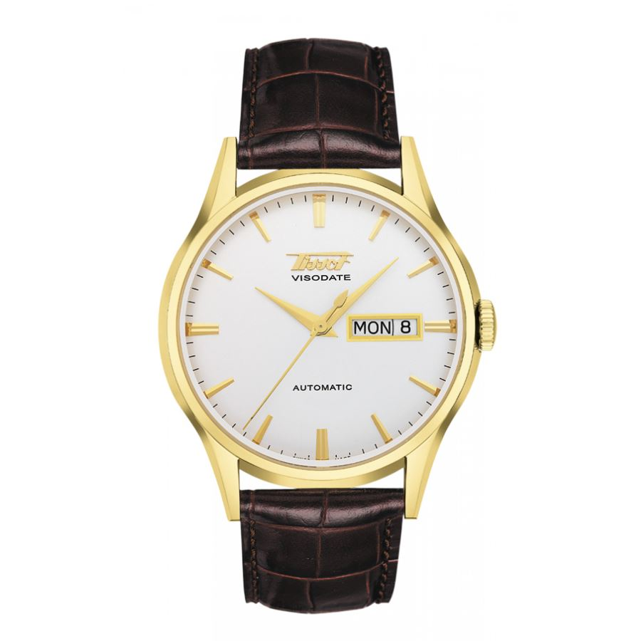 Tissot Visodate Automatic Silver Dial Leather Men Watch T0194303603101