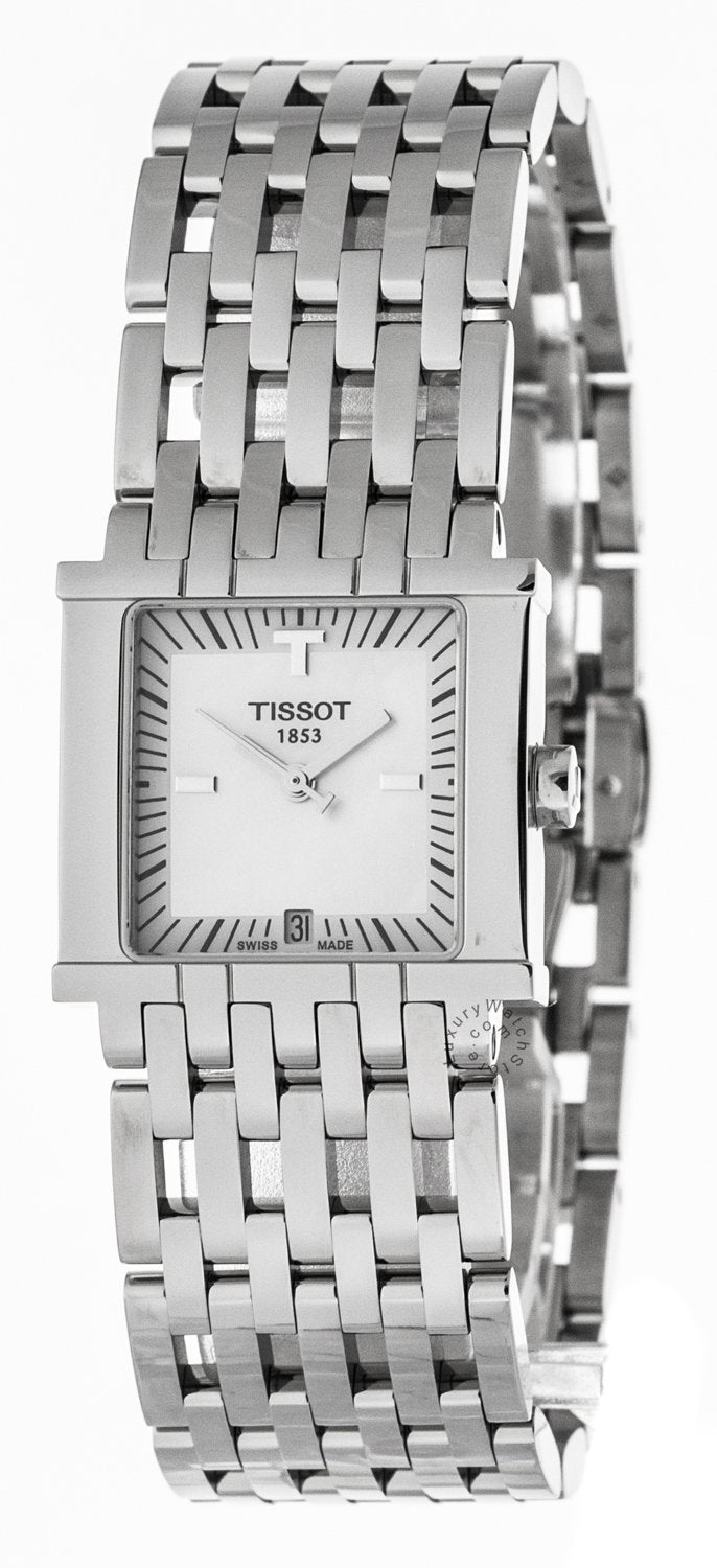 Tissot T-Trend Six-T White Pearl Dial Square Women's Watch T02118181