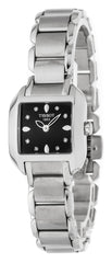 Tissot T Wave T Trend Black Dial Stainless Steel Women Watch T02128554