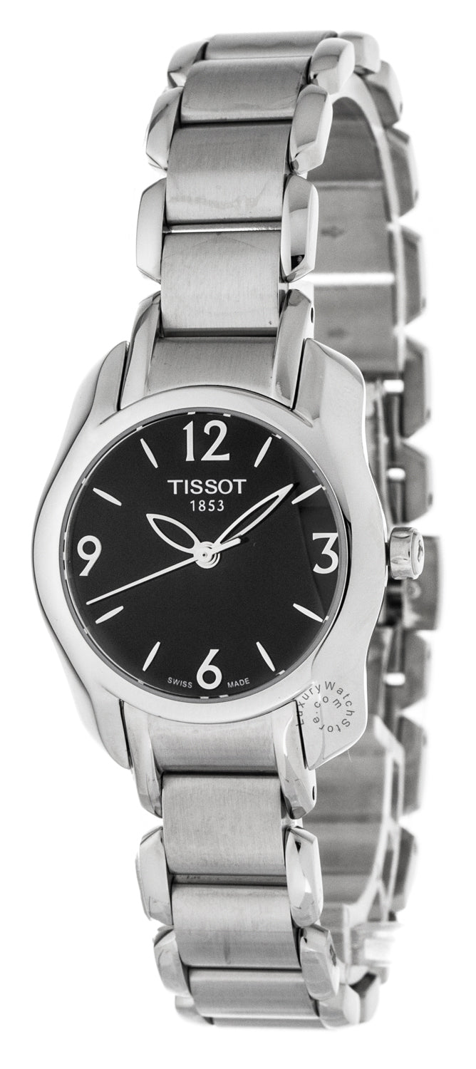 Tissot T-Trend T-Wave Black Dial Dress Women's Watch T0232101105700