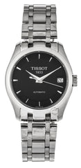 Tissot Couturier Automatic Black Dial Steel Women Watch T0352071105100