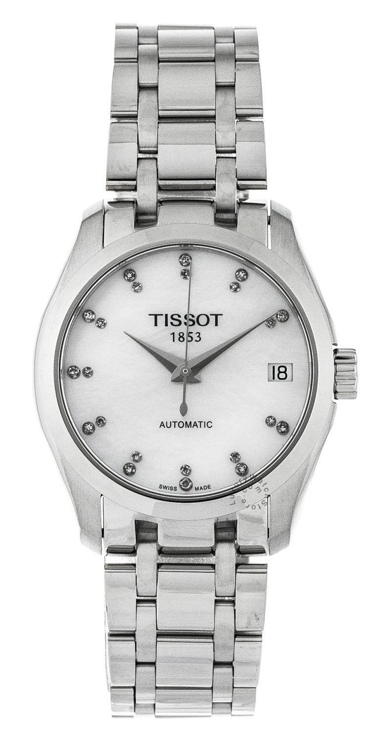 Tissot T0352071111600 T-Trend Couturier Women's Pearl & Diamond Watch