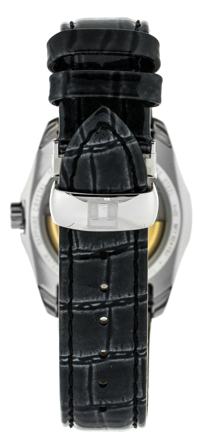 Tissot Couturier  Black Leather Automatic Women's Watch T0352071605100