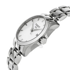 Tissot T-Trend Couturier White Dial Steel Women's Watch T0352101101100