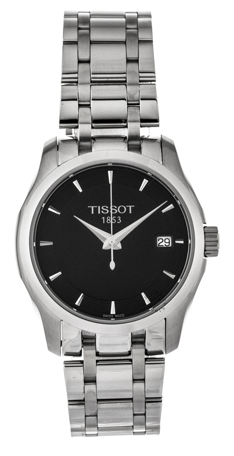 Tissot T-Trend Couturier Black Dial Dress Women's Watch T0352101105100