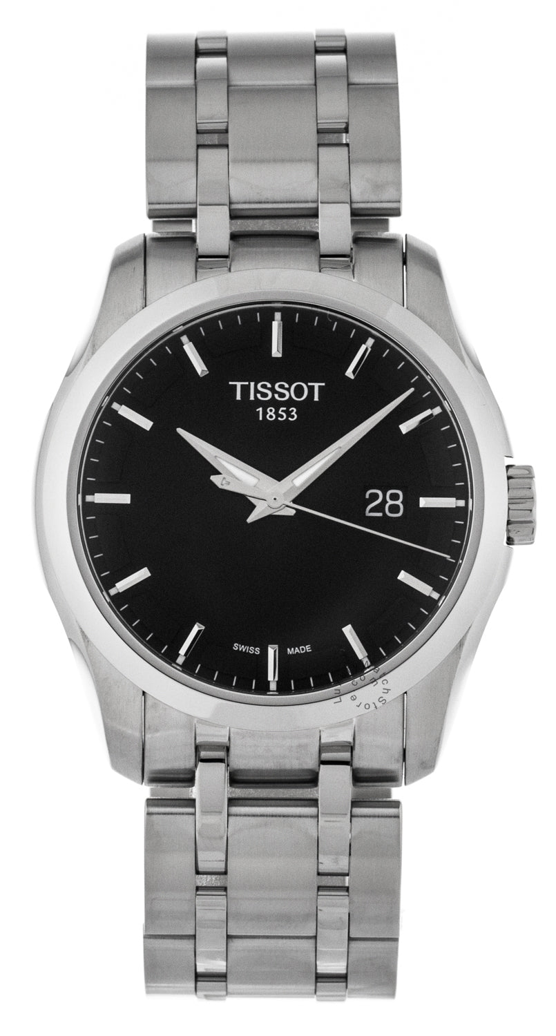 Tissot Couturier Black Dial Date Steel Men's Watch T0354101105100