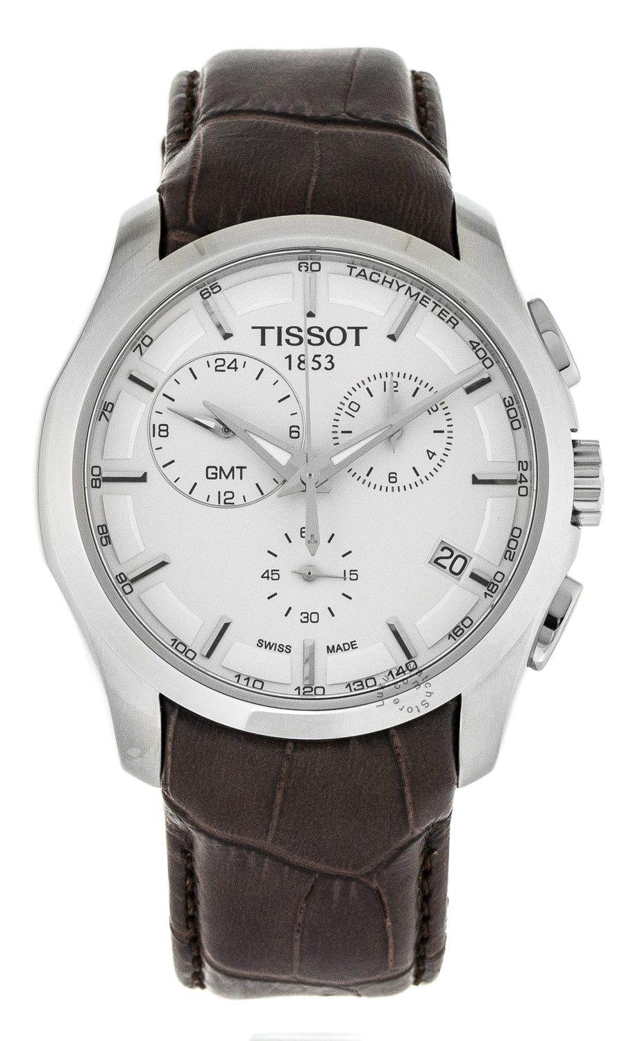 Tissot Couturier GMT Chronograph White Dial Men Watch T0354391603100
