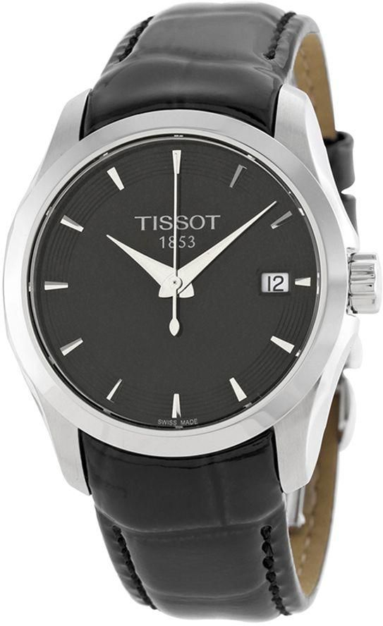 Tissot T-Trend Couturier Black Leather Women's Watch T0352101605100