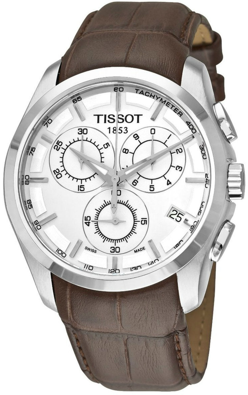 Tissot T-Trend Couturier Chronograph Leather Men Watch T0356171603100