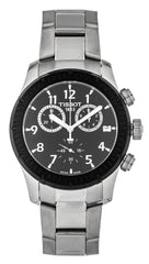 Tissot T-Sport V8 Black Dial Chronograph SS Men Watch T0394172105700