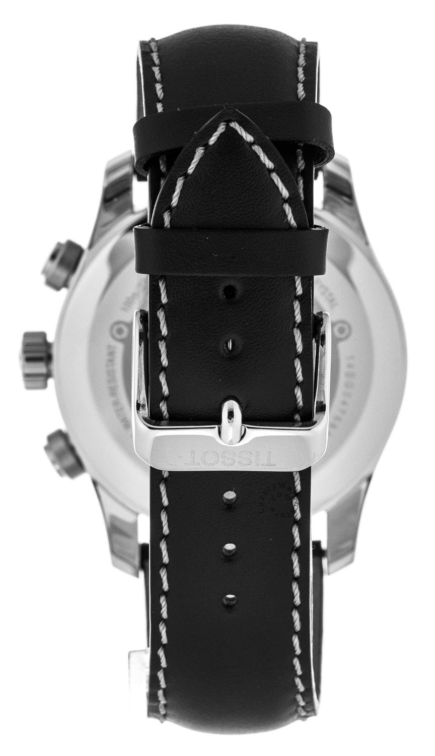 Tissot T-Sport V8 Black Leather Chronograph Men's Watch T0394172605700