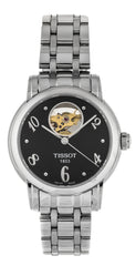 Tissot Lady Heart Automatic Black Dial SS Women's Watch T0502071105700