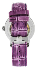 Tissot Lady Heart Automatic Violet Leather Women Watch T0502071603100