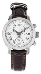 Tissot PRC 200 Chronograph Brown Leather Women's Watch T0552171603301