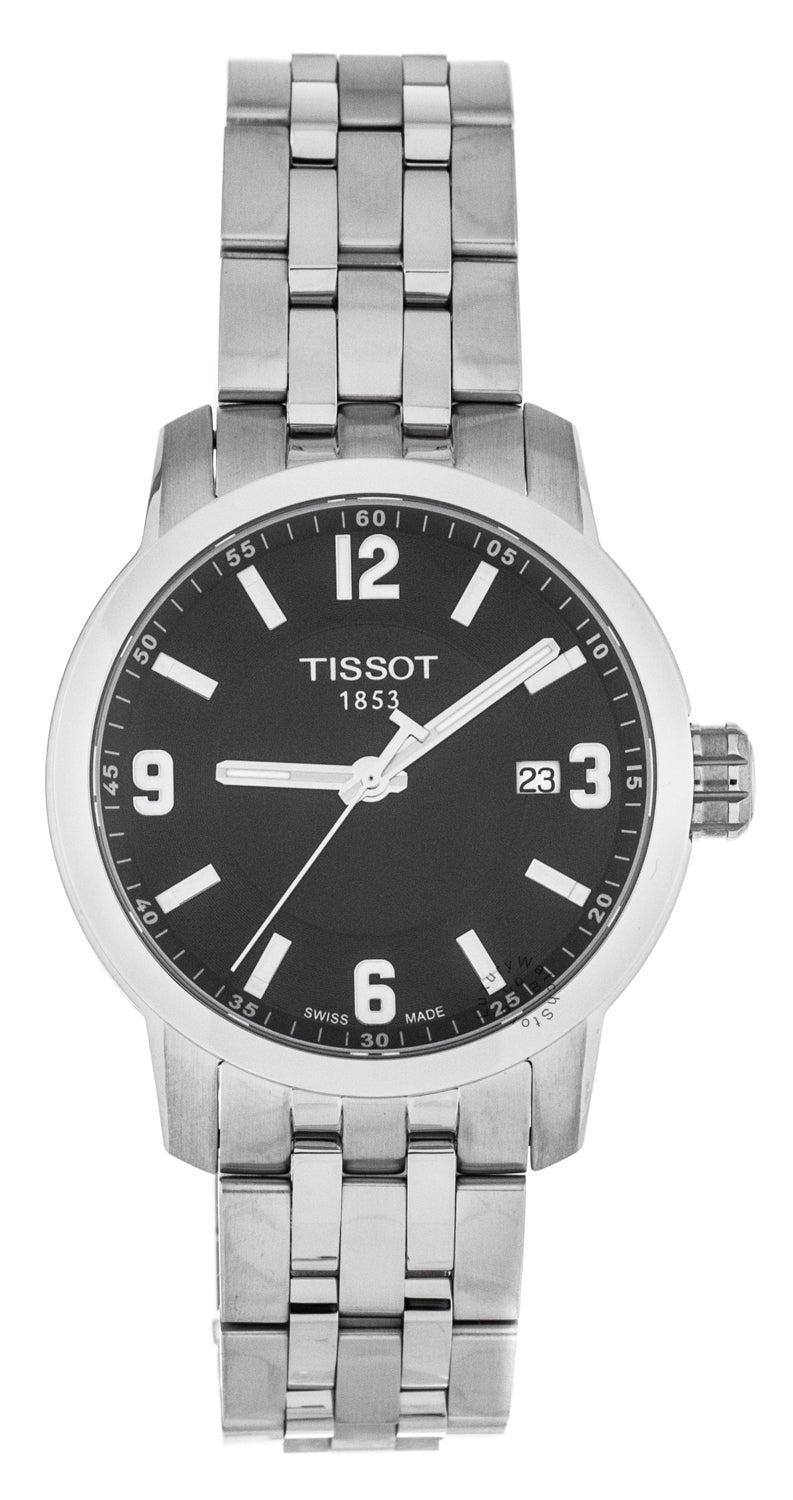 Tissot PRC 200 Sport Swiss Steel Black Dial Men's Watch T0554101105700