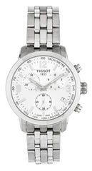 Tissot PRC 200 Chronograph Steel Silver Dial Men Watch T0554171103700