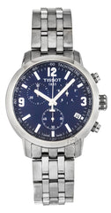 Tissot PRC 200 Chronograph Steel Blue Dial Men's Watch T0554171104700