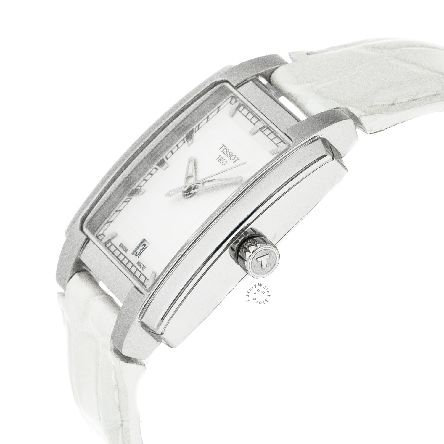 Tissot T-Trend TXL White Dial White Leather Women Watch T0613101603100