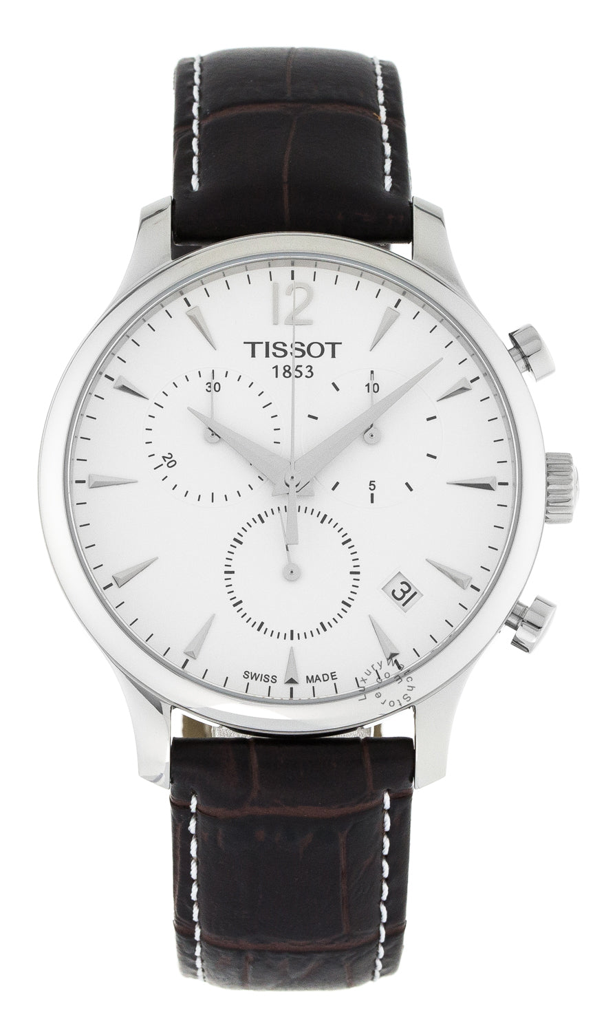 Tissot T-Classic Chronograph Men's Brown Leather Watch T0636171603700
