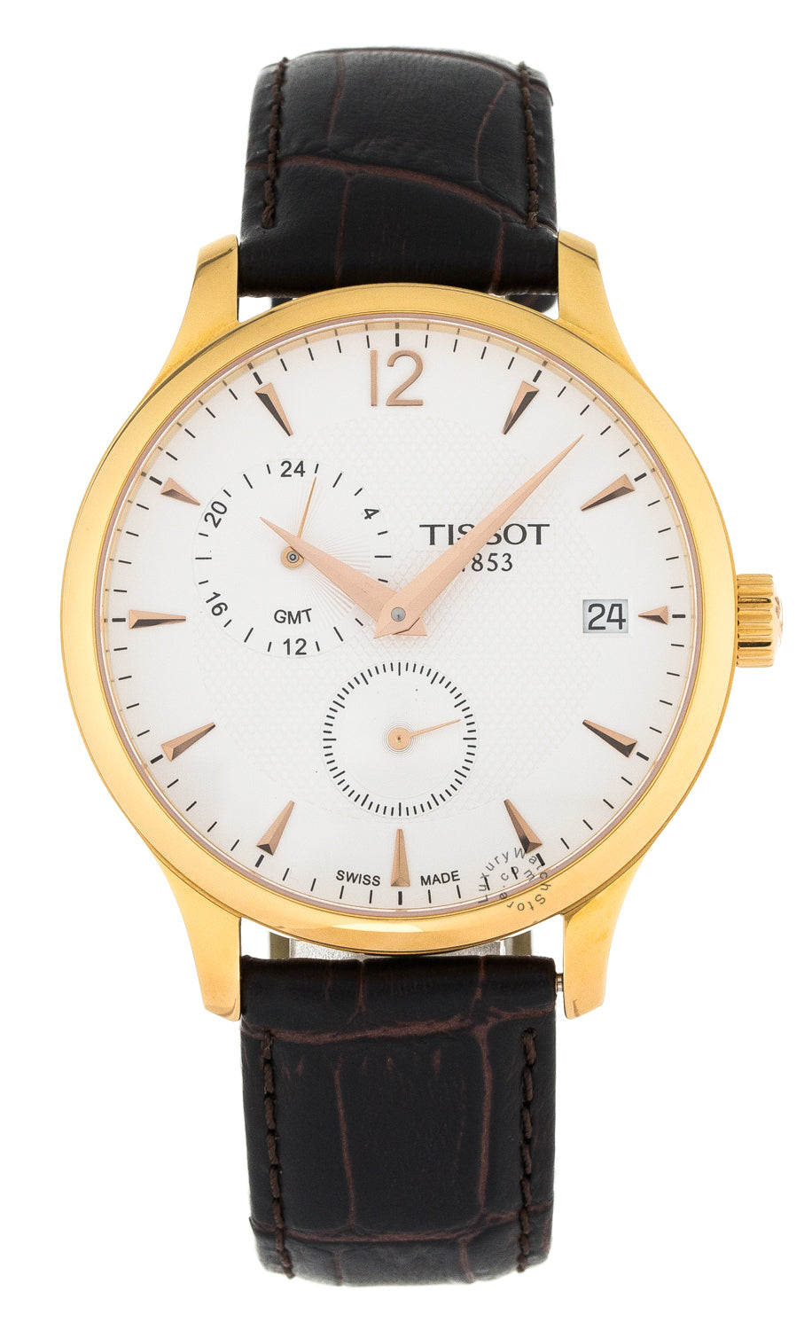 Tissot T-Classic Tradition Brown Leather Men's  Watch T0636393603700